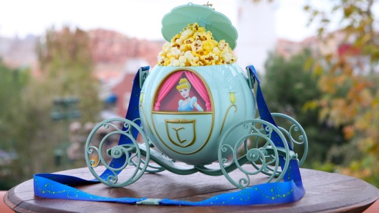 The popcorn is delicious and the Cinderella carriage is collectible! ($13.50 for salted, $15 for caramel corn.)
