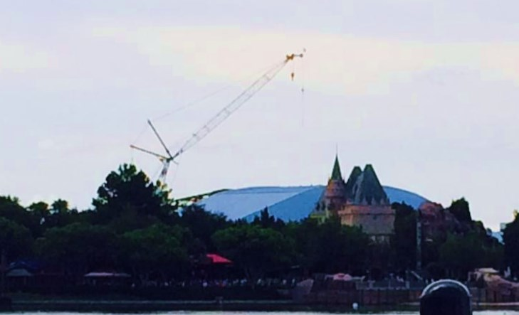 July 2015: Construction on the new Soarin' Theater has begun!