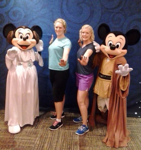 With Jedi Mickey & Princess Leia Minnie.