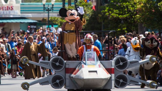 Special Star Wars parade with Mickey leading the way.