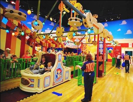 The Toy Story Maina loading area in Disney's Hollywood Studios.