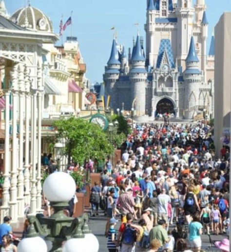 9am:  Guests pouring into MK and struggling to get down Main Street USA.