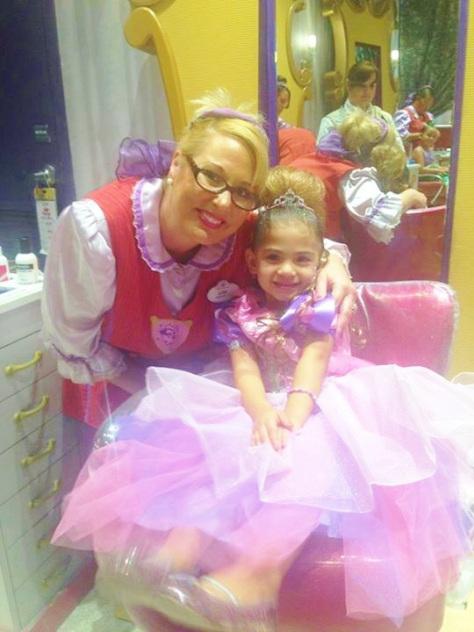Lori working her magic on a little princess.
