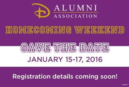 Next Alumni Reunion Event:  January 2016