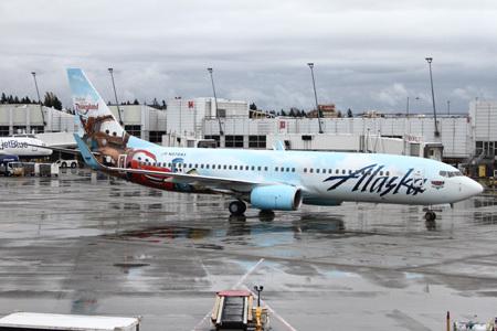 Alaska Airlines:  Cars plane