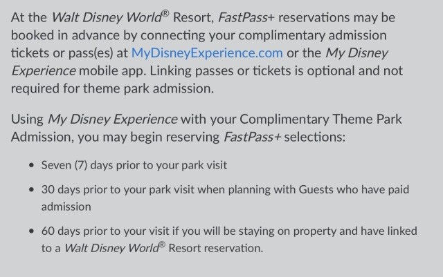 7 day Fast Passes