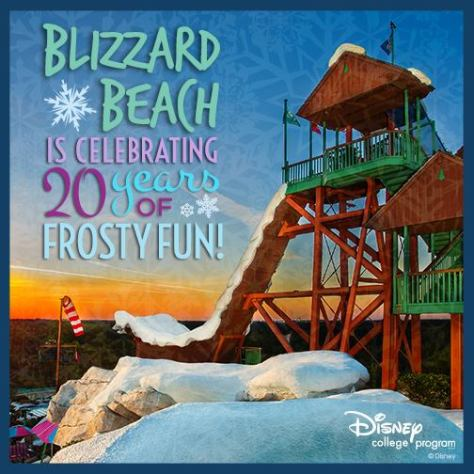Blizzard Beach closes until January 2016 next week.