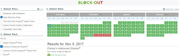 Disney blockout dates in Australia