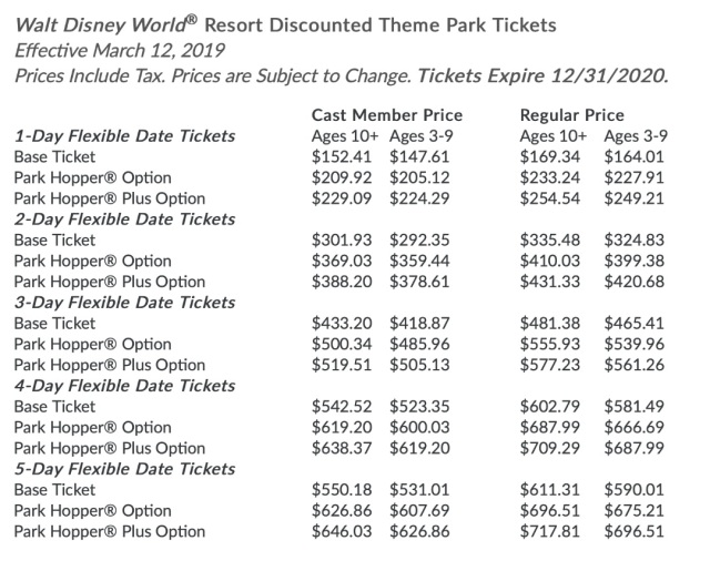 discounted ticket prices1