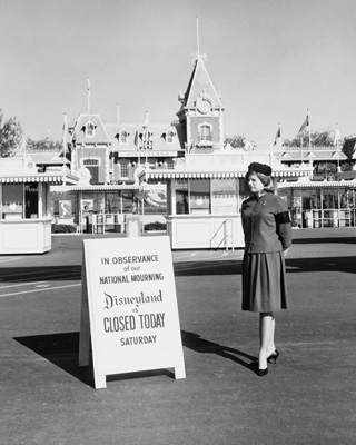 Disneyland closed in observance of national mourning.