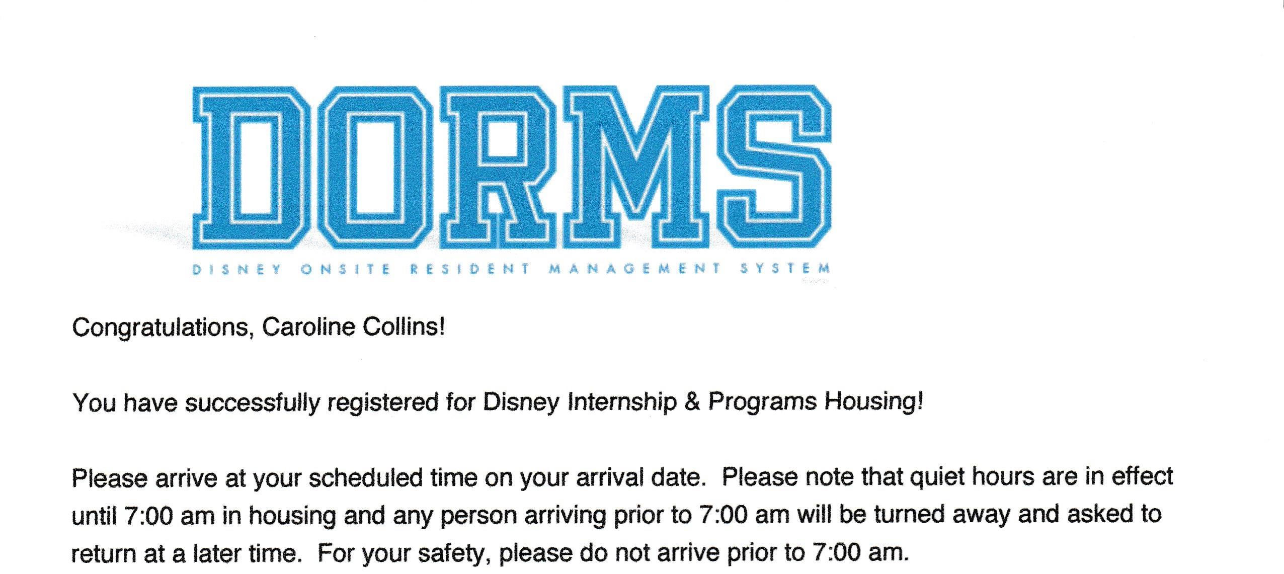 DORMS Paperwork