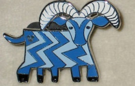 Out 5 legged goat pin (released 2008).