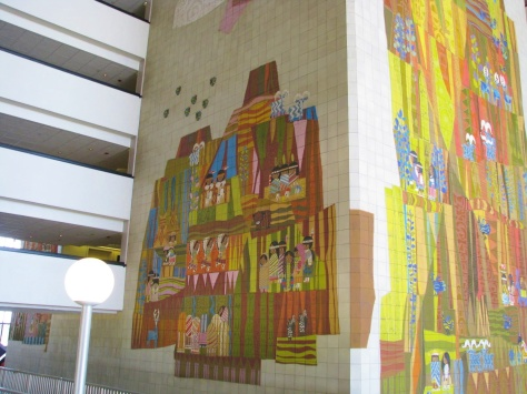 Mary Blair's murals at the Contemporary Resort.