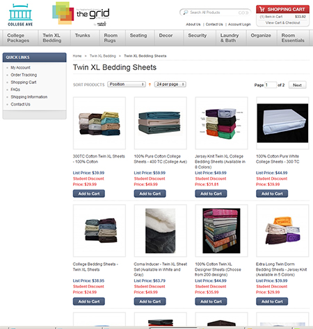 The Grid.com:  Bedsheets and comforters!!!