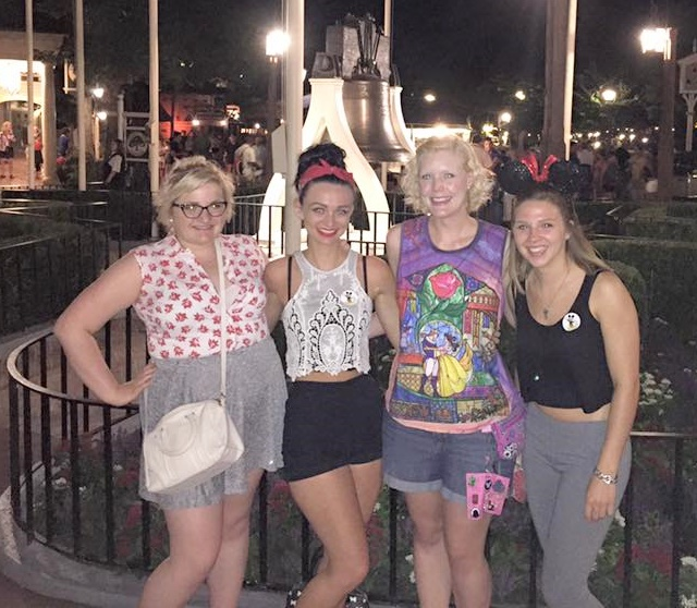 9pm, at the Magic Kingdom with friends:  Using my new ID for the first time.