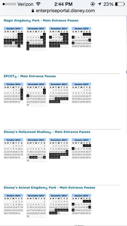 nov 2014 Blackout dates (2)