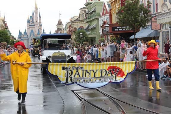 Here comes the Rainy Day Cavalcade parade!