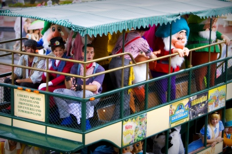 You still get to see all the characters smiling and waving at the crowds while the music plays...