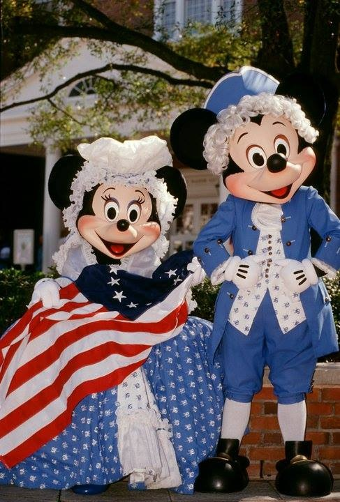 Mickey and Minnie on 4th of July