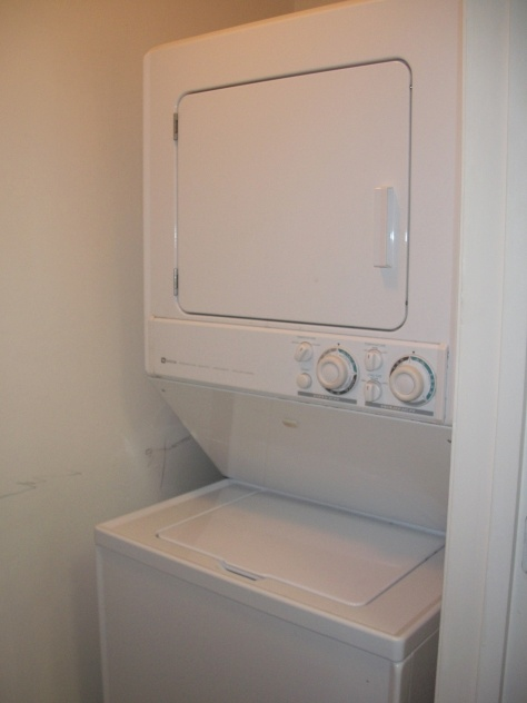 Our washer/dryer unit at The Commons.  <3