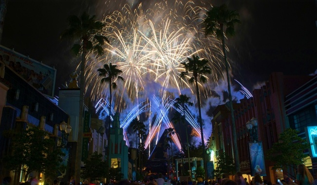 Frozen's icy fireworks.