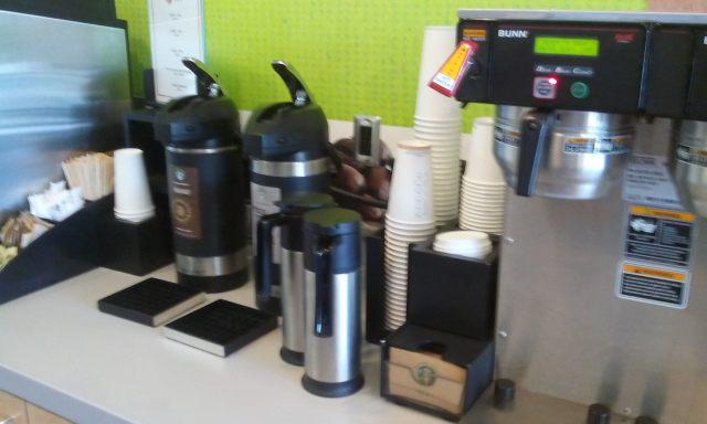 Fresh coffee bar, milkshakes too.