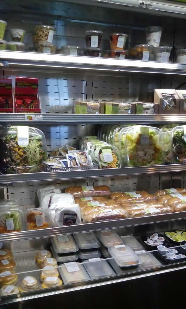 Cold items: Fruit cups, salads, sandwiches, dessert cups, $2 - $6