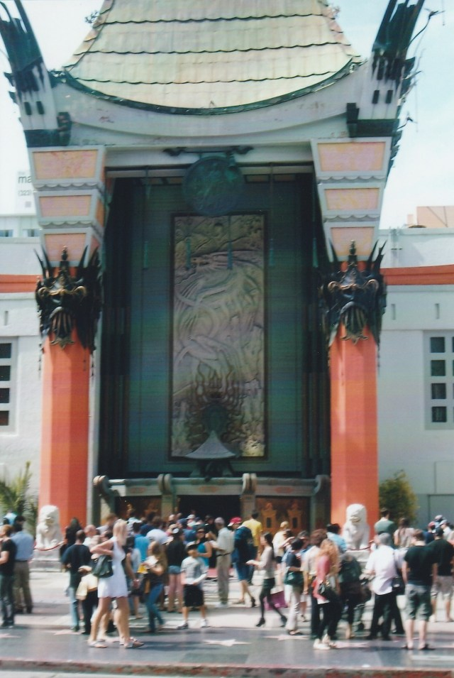 The Chinese Theater on Hollywood Blvd.