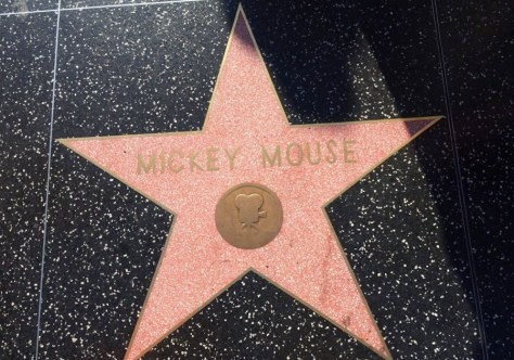 mickey mouse walk of fame