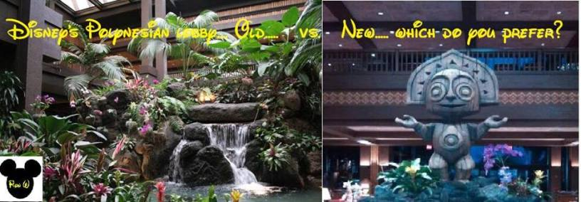 Old lobby vs. new look.