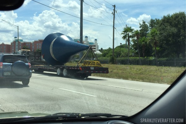 New turrets being driven to WDW on I-4.