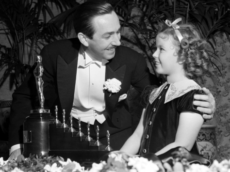1937: Snow White Award Walt Disney won a total of 26 Academy Awards, and holds the records for most Academy Awards wins and most nominations in academy history.