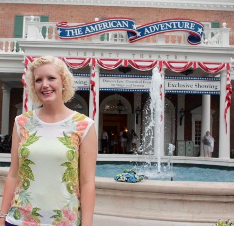 At the American Adventure in Epcot.