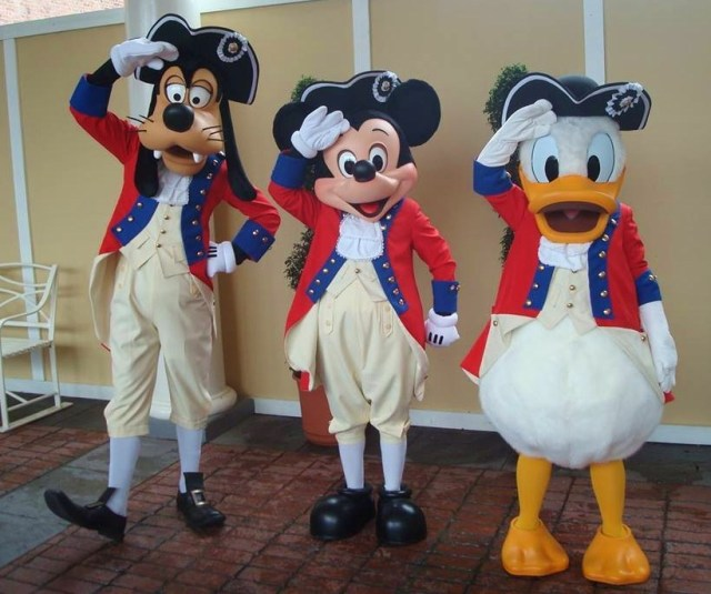 Mickey and pals.