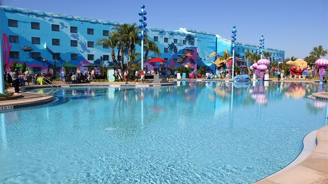 The Big Blue Pool at Art of Animation Resort.
