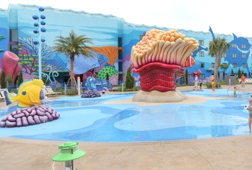 The Big Blue Pool is themed after the Pixar movie