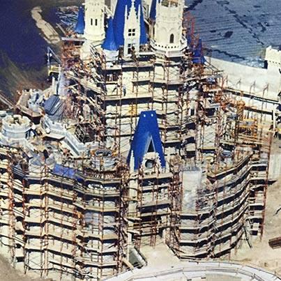 Throwback Thursday photo:  Cinderella Castle under construction, circa 1970.