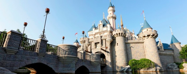 Sleeping Beauty Castle at Disneyland Hong Kong.