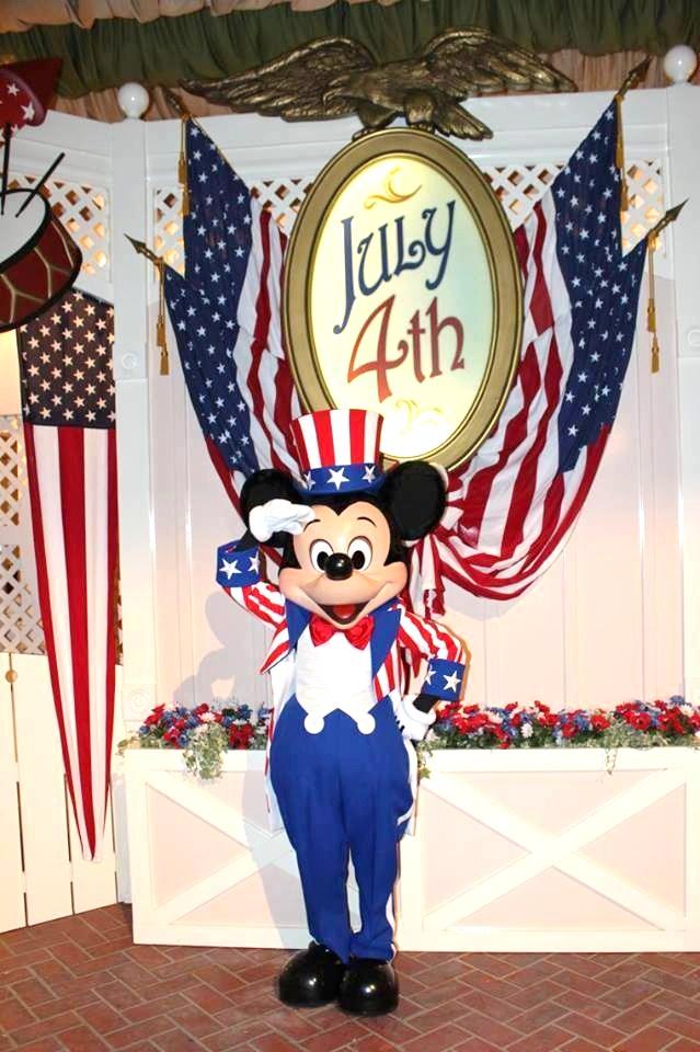 Mickey celebrating the 4th.