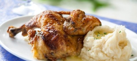 Rotisserie Chicken with mashed potatoes