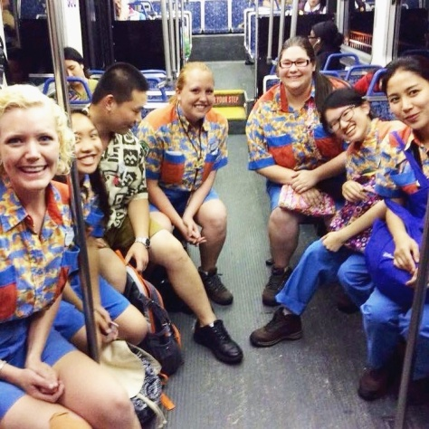 On the bus with all my DAK coworkers.