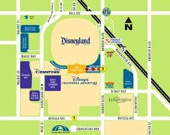 Two parking lots are available at Disneyland: Mickey and Friends and Toy Story. Both are far away from the park's entrance.