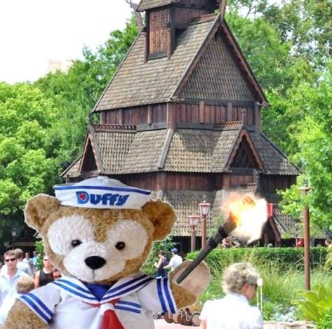 Duffy's not leaving Epcot without a fight!! ;)