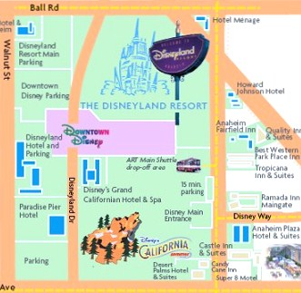 Downtown Disney Parking Map on