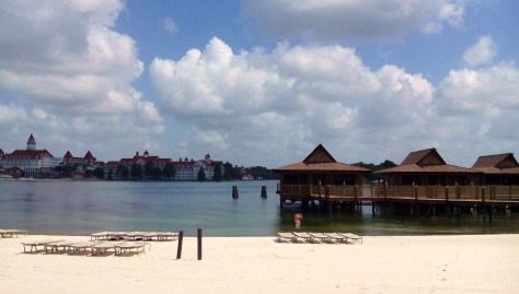 20 bungalows built out over the lagoon in South Seas style.