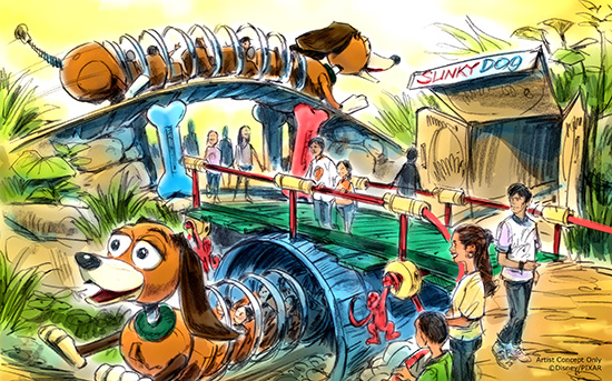 Slinky Dog roller coaster.