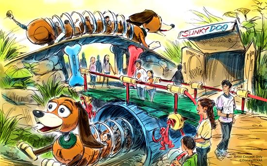 Slinky Dog roller coaster.