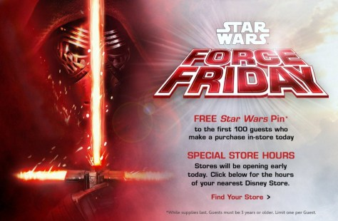 September 4th: Force Friday