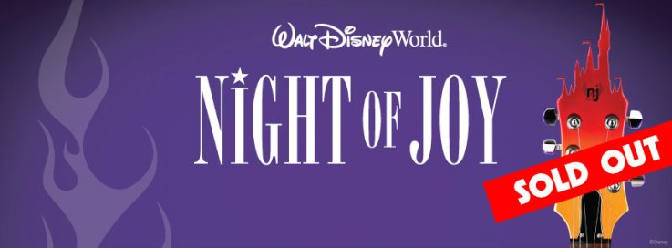 Night of Joy is sold out for both Friday and Saturday night.