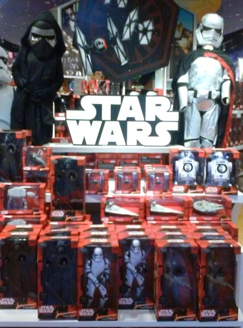 The front 1/3 of the store was all Star Wars stuff.
